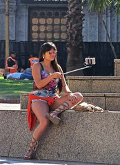 Selfie (carlos_ar2000) Tags: selfie celular cell chica girl mujer woman bella beauty sexy calle street linda pretty gorgeous plaza square buenosaires argentina