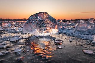 Eis im Morgenlicht