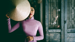 Vietnamese lady with Ao Dai Vietnam traditional dress, Vietnam (Patrick Foto ;)) Tags: 8 aodai adult alone ancient ao asia asian attractive background beautiful beauty cheerful clothing concept costume culture cute dai designer dress face famous fashion female girl hair happy hat lady lifestyle lonely people person pink portrait pretty retro scene style tourism traditional travel vacation vietnam vietnamese vintage wearing woman young hochiminhcity hồchíminh vn