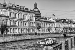 """МАШЕНЬКА"" - ""Mary""  (Nabokov novel?) (Valery Parshin) Tags: russia saintpetersburg canoneos70d valeryparshin moika river monochrome blackandwhite stpetersburg canonefs55250mmf456isstm church water"