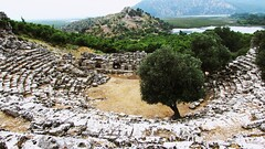Caunos antic theatre (kemalemrah48) Tags: dalyan caunos antictheatre city
