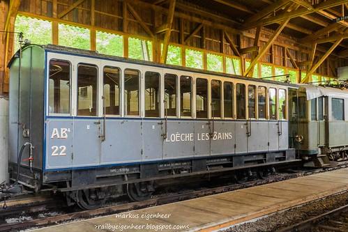 LLB Leuk-Leukerbadbahn Personenwagen AB4 n°22 SIG 1915
