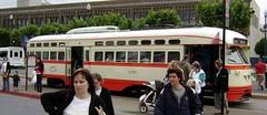 San Francisco Vintage Streetcars (Stabbur's Master) Tags: california sanfrancisco streetcar sanfranciscostreetcar fline sanfranciscofline vintagestreetcar trolley tram transit transportation publictransit publictransportation pcc detroitpcc
