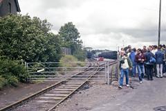 Cranmore Station, 28 Jul or 3 Aug 1985 (Ian D Nolan) Tags: railway prinzflashmaticgt7 35mm epsonperfectionv750scanner esr station cranmorestation