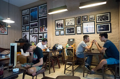 "at the ""analog cafe"" (kuuan) Tags: voigtländerheliarf4515mm manualfocus mf voigtländer15mm aspherical f4515mm superwideheliar apsc ricohgxr mmodule saigon hcmc vietnam cafe analogecafe analogcafe coffeehouse"