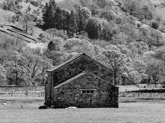 Barn (tubblesnap) Tags: panasonic bridge camera yorkshire dales hiking walking buckden cray g grimwith reservoir water scenery landscape barn farm building