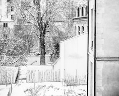 FadingMemory.jpg (Klaus Ressmann) Tags: klaus ressmann omd em1 fparis france snow winter blackandwhite cityscape courtyard flccity softtones klausressmann omdem1