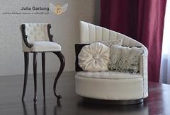 "1:4 Set ""Cajual"" (JuliaGart) Tags: furniture for doll scale 14 order chair pillow julia gartung sybarite devadolls kd numina"