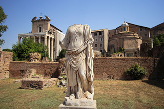 Headless Vestal-virgin found in a pile of statues AD 113
