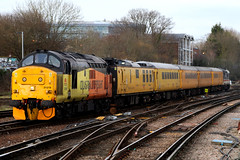 37219, Guildford, February 16th 2017 (Southsea_Matt) Tags: 37219 class37 englishelectric type3 colasrail guildford surrey england unitedkingdom february winter 2017 canon 80d train railway railroad transport testtrain diesellocomotive