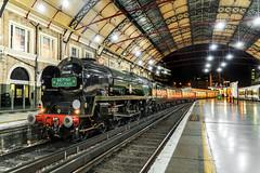 """On the Blocks"" (Kingmoor Klickr) Tags: london victoria station bulleid mertchantnavy pacific 35028 clanline mainline steam"