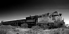 024693763369-100-Union Pacific-4-Black and White (Jim There's things half in shadow and in light) Tags: 2018 america bouldercity canon5dmarkiv may mojavedesert nevada usa nearlasvegas summer blackandwhite train travel transportation