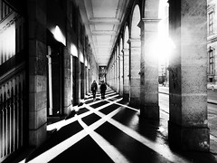 Cross (DaDa1127) Tags: paris europe snap black blackandwhite shadow shadows backlighting sun sunset city cityscape landmark dramatic portrait people woman girl urban cross street light lifestyle life architecture architectural building travel walk walking