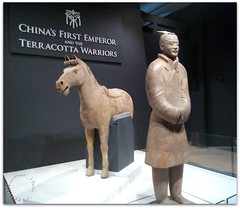 Terracotta Warrior and Horse (zweiblumen) Tags: terracottawarriors china chinese worldmuseum huawei cameraphone liverpool merseyside england uk zweiblumen picmonkey