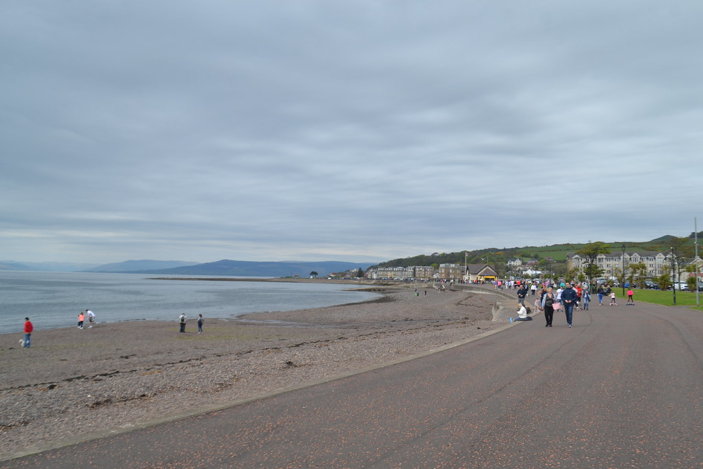 Walking along the seafront