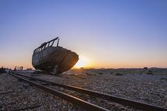 Dungeness Boat (jack.mihlenstedt) Tags: nikonflickraward dungeness boat shipwreck beach landscape nikon d750 nikon1635mm hoya sunset