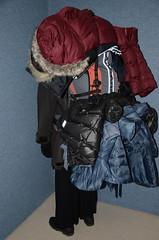 Down Coat (Warm Clothes Fetish) Tags: hijab burka chador niqab girl hot warm sweat torture fur coat winter anorak boots hat