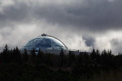 Under the Dome (trochford) Tags: dome building museum hilltop clouds dramatic light reflection monochromatic perlan reykjavik capitalregion iceland íslands is canon canon6d ef70200mmf4lisusm ef70200