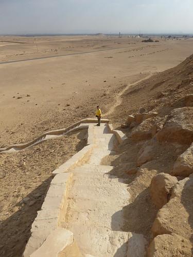Descending the Red Pyramid, Dahshur