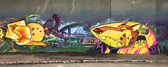 Color FriendS jam - F4 x Lehel (FORK4 / AFX / SW307 / UBS) Tags: fork lehel afx cfs jam yellow budapest graffiti