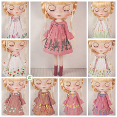 Handmade Embroidered Dresses (Ylang Garden) Tags: blythe bohemien bohemian embroidered embroidery momoko