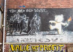 The Mild Mild West (PDKImages) Tags: bristol bristolstreetart street art urban banksy ukstreetart cityscene scene riot
