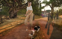 Walkies (ᗷOOᑎᕮ ᗷᒪᗩᑎᑕO) Tags: mediterranean village soul2soul new release coast med flickr secondlife sl second life virtual world country worldwide painting art arty vintage retro style road tree sky birdy jian 8f8 toscana