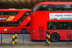 Abellio LT 699 & Arriva LT 817 (cybertect) Tags: abellio abelliolondon arriva arrivalondon carlzeisstessart45mmf28 euston lt699 lt817 ltz1699 ltz1817 london londonbus newbusforlondon newroutemaster sonya7ii bus busstation doubledecker