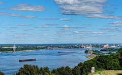 Volga 77 (Alexxx1979) Tags: 2017 august city russia summer август город лето россия нижегородскаяобласть nizhnynovgorodoblast river volgariver волга река бор bor канатнаядорога cableway