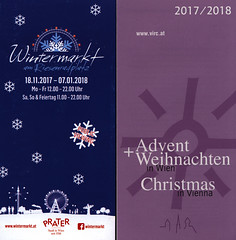 Wintermarkt am Riesenradplatz, Advent Weihnachten; 2017, Wien, Austria (World Travel Library - collectorism) Tags: vienna wien bécs 2017 capital weihnachten christmas karácsony advent markt market travelbrochurefrontcover frontcover austria österreich world travel library center worldtravellib collection holidays tourism trip vacation brochures brochure papers prospekt catalogue katalog photos photo photography picture image collectible collectors sammlung recueil collezione assortimento colección ads online gallery galeria touristik touristische broschyr esite catálogo folheto folleto брошюра broşür documents dokument