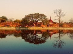 #MandalayPalace (khinmyatnoethue) Tags: mandalay reflection palace myanmar