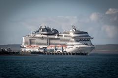 MSC Meraviglia (MBDGE >1.4 Million Views) Tags: orkney ship cruise hatston water sea scotland sky port pier harbour mscmeraviglia meraviglia msc cloud canon70d alba uk europe boat