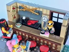 Ramen&Sushi Bar (SpaceBrick) Tags: lego moc creation ninjago movie city ramen sushi bar fishing minifigscale