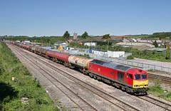 60091 6B13 0500 Robeston - Westerleigh at Severn Tunnel Junction 14.05.2018 (2) (The Cwmbran Creature.) Tags: british rail class train trains railway railways 60 dbs fuel tank tanker tanks