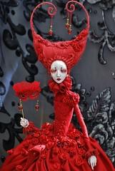 Red Queen of the Masquerade (stashraider) Tags: dorote zaukaite tireless artist doll handmade ooak red queen