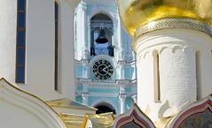 Trinity Cathedral, Nikon Church andThe Bell Tower (88 metres, since 1768). Sergiyev Posad City (Сергиев Посад, Россия), Trinity Lavra of Saint Sergius (Свято-Троицкая Сергиева Лавра), Sergiyevo-Posadsky District, Moscow Oblast (Moscow region), Russia. (sacalevic) Tags: sergiyevposad sergievposad moscowregion moskovskayaoblast moscowoblast московскаяобласть сергиевпосад святотроицкаялавра лавра сергиевалавра сергийрадонежский saintsergius загорск monastery монастырь sergievposadcity orthodoxy православие святыня россия russia русь рпц русскаяцерковь russianchurch колокольня belltower belfry tree sky tower architecture clock trinitycathedral nikonchurch никоновскаяцерковь троицкийсобор russianorthodox архитектура святаярусь holyrussia русскийхрам rus
