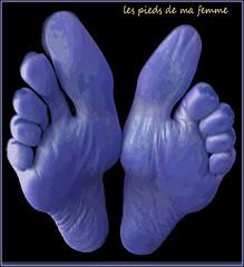 les pieds de ma femme (Cliff Michaels) Tags: iphone8 photoshop pse9 feet