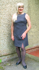 Magdagryshft (fionaxxcd) Tags: crossdresser crossdressing transvestite tranny trannie m2f mtf tgurl longblonde ponytail shift rednails bust