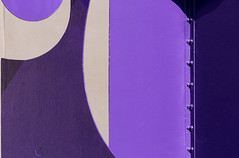 Purple Sculpture (josullivan.59) Tags: 2018 april artistic canada canon6d ontario tamron150600 waterloo abstract art color colors detail geometric light lightanddark minimalism purple sculpture telephoto wallpaper