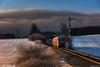Tschüss hintere Höllentalbahn, tschüss BR 611 ((Mathias Dersch)) Tags: höllentalbahn hintereshöllental hintere br611 baureihe611 löffingen formsignal winter sonnenaufgang nebel bahn db sonne br612 elektrifizierung 611 006