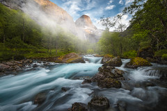 The Valley (lonekheir) Tags: norge norway summer valley water