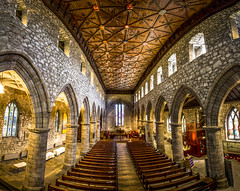 "panorama inside the ancient, magnificent, St Machar's Cathedral, Old Aberdeen, Aberdeen, Scotland (grumpybaldprof) Tags: aberdeen ""aberdeencity"" ""granitecity"" grampian scotland uk ""beautifulcity"" ""northeastscotland"" aberdeenshire kirk""stmacharscathedral"" ""cathedralchurchofstmachar"" ""oldaberdeen"" ""highkirk"" 580 ""riverdon"" 1131 mortlach ""williamwallace"" church cathedral ancient"