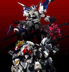 LEGO Gundam Iron Blooded Orphans (demon1408) Tags: lego gundam barbatos frame iron blooded orphans asw 08th tekkadan technic bionicle hero factory brick robot mecha toy figure đồ chơi rex lupus bael gusion rebake full city kimaris vidar flauros