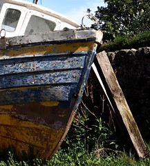 Seen better days 2 (marcus.webb) Tags: harbour scotland dunure oldboat boat old