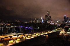 Melbourne city at night from the Mantra Jolimont in May 2018, Victoria, Australia. (Michael J. Barritt) Tags: citystreets streetart melbourne city may 2018 victoria australia