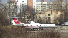 Tupolev Tu.134Sh-2 Russia Air Force registration RF-66015 code 23 red at the overhaul aircraft plant at Minsk-1 airport, Belarus (sirgunho) Tags: minsk belarus tupolev tu134sh2 russia air force registration rf66015 code 23 red overhaul aircraft plant minsk1 airport
