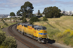 Light Power West (imartin92) Tags: rodeo california unionpacific railroad railway freight train emd sd59mx gp382 locomotive