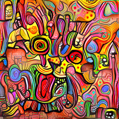 Psycho Kitty (Ross Studio) Tags: kitty cat kitten blue yellow red orange bubbles circles abstractdesign texture pattern colorful abstract decorative color grunge messy grungy graphic artistic abstractart abstractpainting abstractexpressionism artist experimentalart rossstudio artlovers artnews artoftheday artreception artwork artshow artfair artgallery artstudio contemporaryart portrait anthonyross photomanipulation photoshop faceon purebred publicdomain face black green brown purple white eyes animal art cute digitalillustration hybrid illustration kat