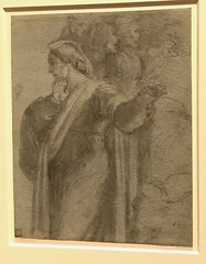Sebastiano del Piombo (Sebastiano Luciani), Venice 1485 or 86-1547 Rome_Study for Martha and the Onlookers in the Raising of Lazarus (Hiero_C) Tags: italy newyork metropolitanmuseum exhibition drawing