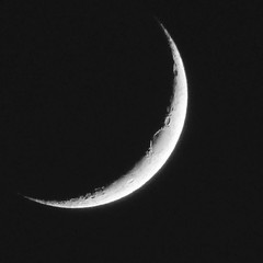Waxing Crescent Moon (caren (Thanks for 3Mio+ views)) Tags: waxingmoon waxingcrescent mondfotografie moon astrophotography laluna